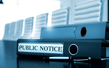 COPYRIGHT WARNING PUBLIC NOTICE