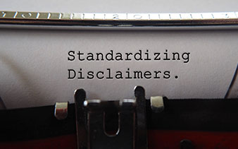 Standardizing Disclaimers