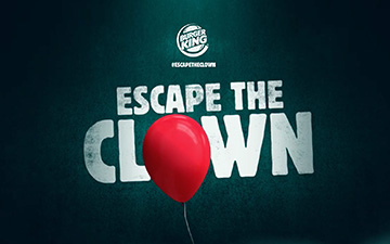 Burger King helps you to #ESCAPETHECLOWN with their new ad