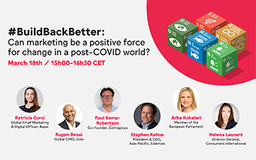 #BuildBackBetter – Can marketing be a positive force for change post-COVID?